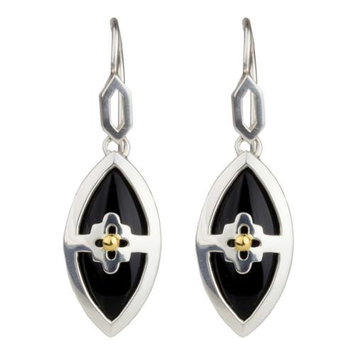 Marquis Onyx Earrings