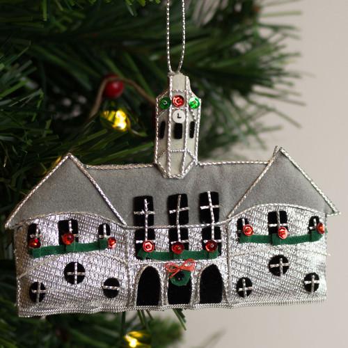 Silver Capitol Fabric Ornament