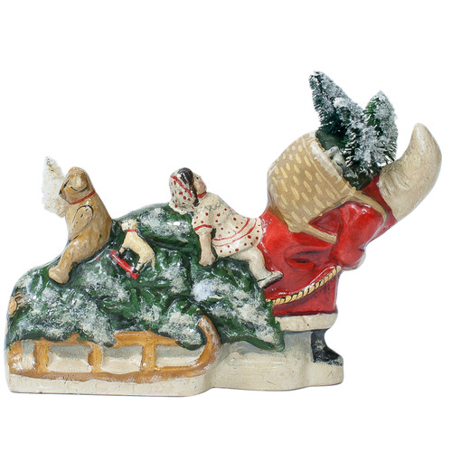 Vaillancourt Santa Pulling Sleigh