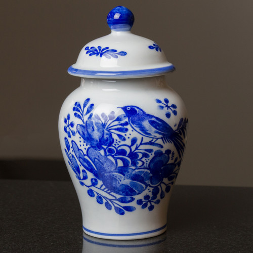 Delft Garden Temple Jar