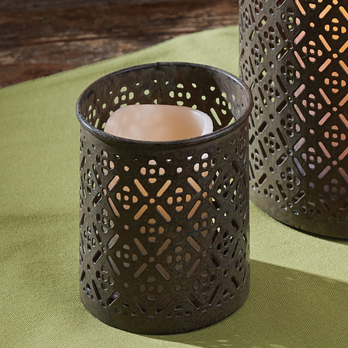 Fretwork Garden Votive Holder