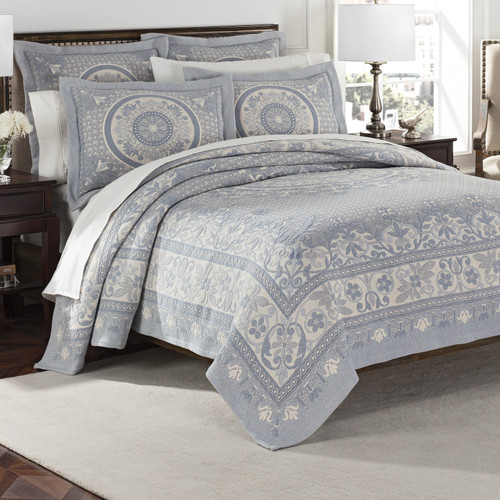 Blue Bassett Bedding Collection - 3/4 view