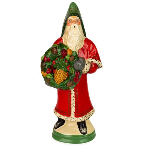 Vaillancourt Red Santa with Pineapple Fruit Wreath