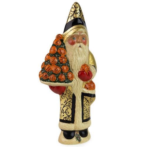 Vaillancourt Gold Santa with Cloved Oranges