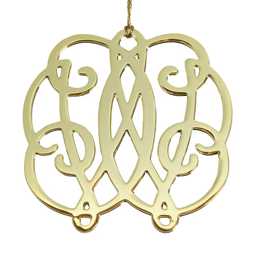 Gold CW Cypher Ornament