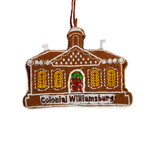 Courthouse Gingerbread Wool Ornament