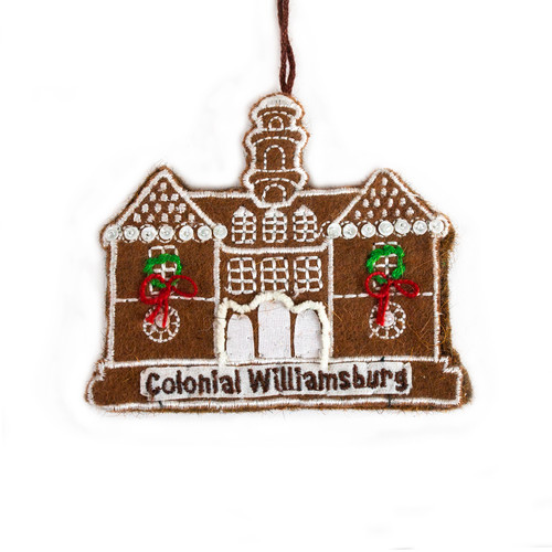 Capitol Gingerbread Wool Ornament
