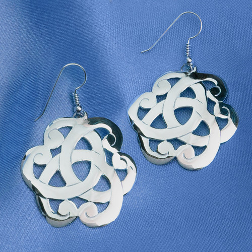 Large Scroll Earrings