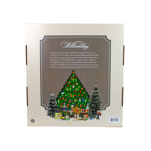 Wood Christmas Tree Advent Calendar - back package