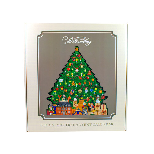 Wood Christmas Tree Advent Calendar - front package