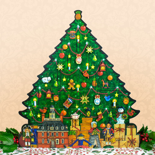 Christmas Tree.Wood Christmas Tree Advent Calendar