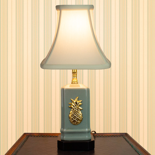 Small Green Pineapple Accent Lamp