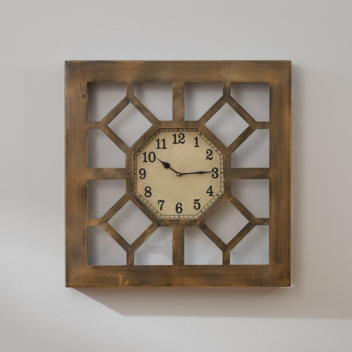 Metal Gate Wall Clock