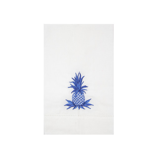 Blue and White Pineapple Guest Towel