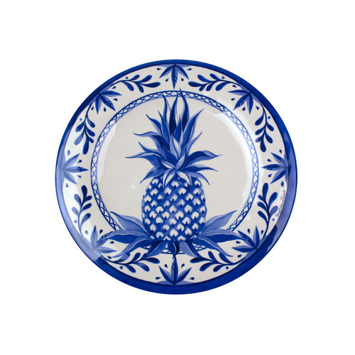 Blue Pineapple Bamboo Salad Plate | The Shops at Colonial Williamsburg