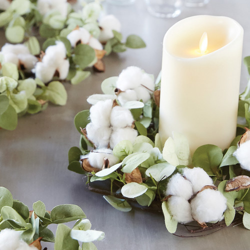 Cotton and Eucalyptus Candle Ring