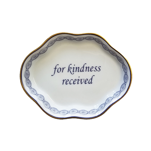 For Kindness Received Verse Dish