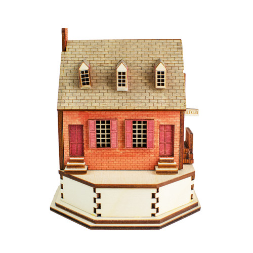 Millinery Replica Laser-Cut Lighted  Building
