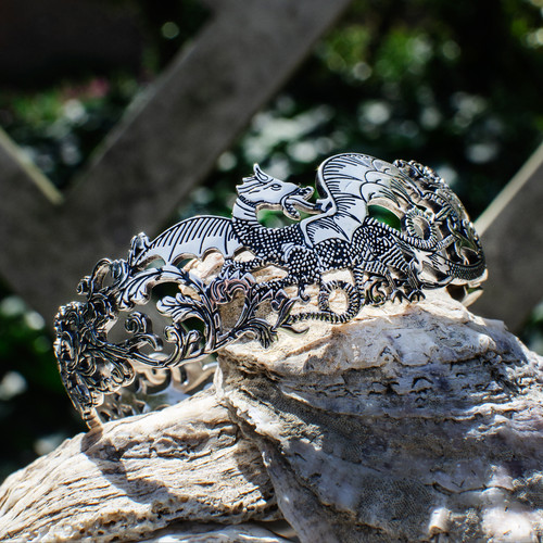Black Dragon Hinged Cuff Bracelet - environment