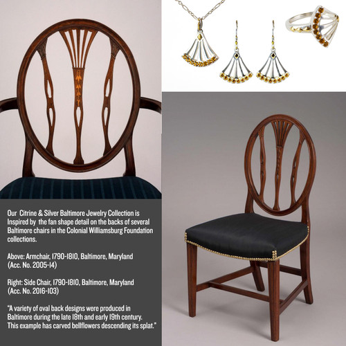 Baltimore Chair Gold Plate and Sterling Silver Ring - Inspiration
