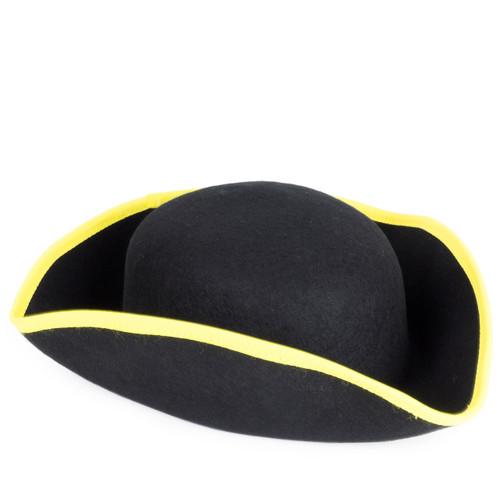 Boys Cocked Yellow Trim Hat