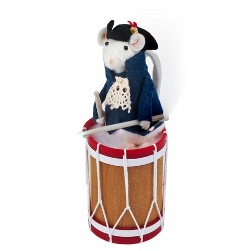 Byers' Choice Mouse on Drum