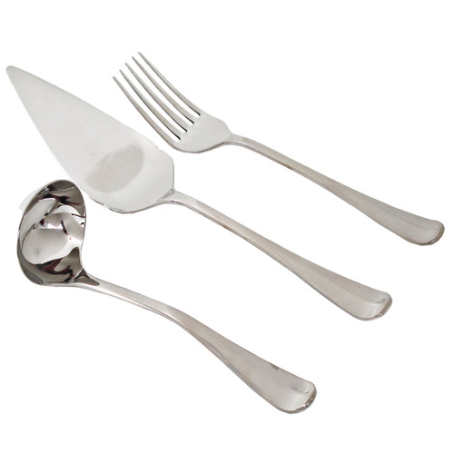 Royal Scroll Stainless Flatware - 3 pc. Serving Set