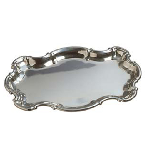 Scalloped Rectangular Chippendale Pewter Tray