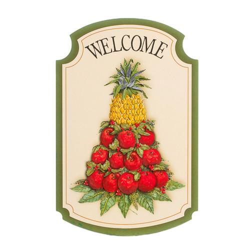 Small Apple Cone Welcome Plaque
