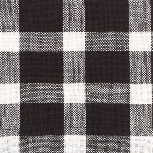 Tavern Check Placemats & Napkins - detail of black check pattern | The Shops at Colonial Williamsburg