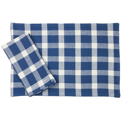 Tavern Check Placemats & Napkins - Blue | The Shops at Colonial Williamsburg