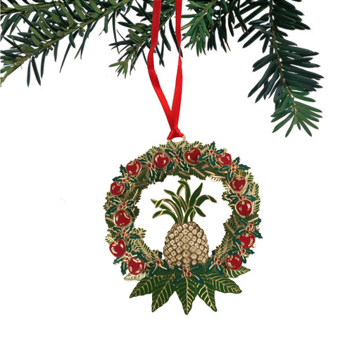 Apple-Pineapple Wreath Ornament