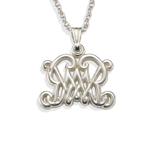 Small William and Mary Pendant with Chain