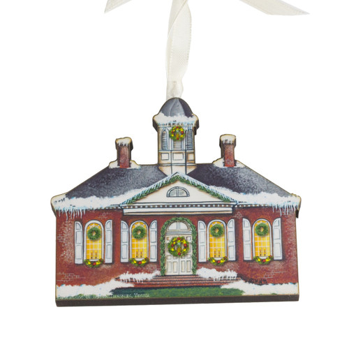 Wooden Courthouse Ornament