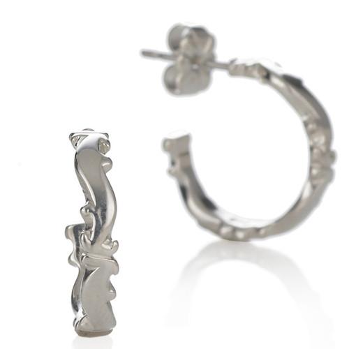 Petite Scroll Hoop Earrings