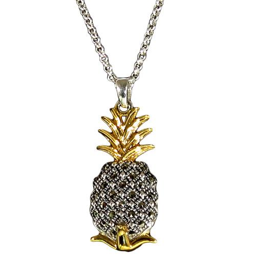 Pineapple Marcasite Pendant