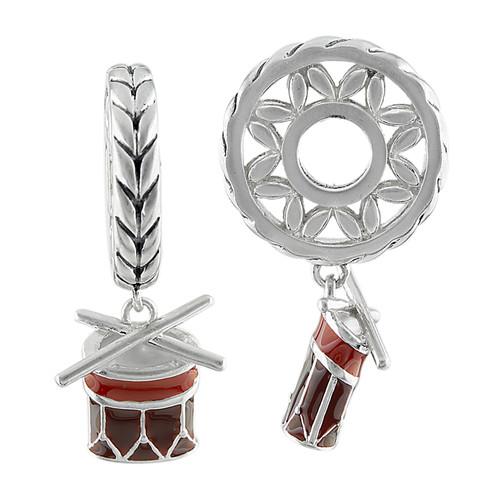 Wheel with Drum Dangled Modular Charm