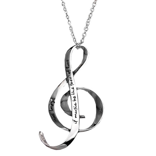 """If Music Be the Food of Love"" Necklace"