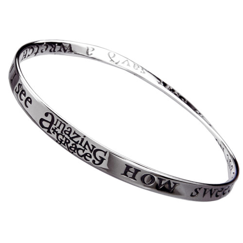 Amazing Grace Sterling Silver Bracelet