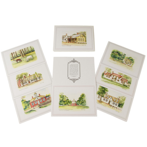 Williamsburg Watercolor Note Cards