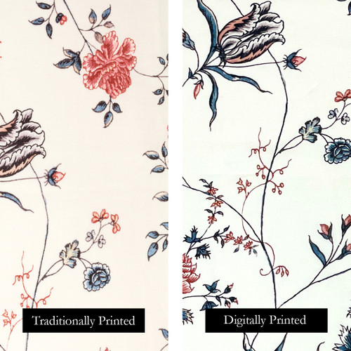 Colonial Williamsburg Reproduction Fabric - Fanny's India Floral 100% Cotton Fabric | The Shops at Colonial Williamsburg