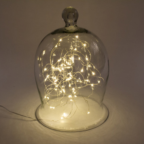 Soft White String Lights with Timer, 10 FT