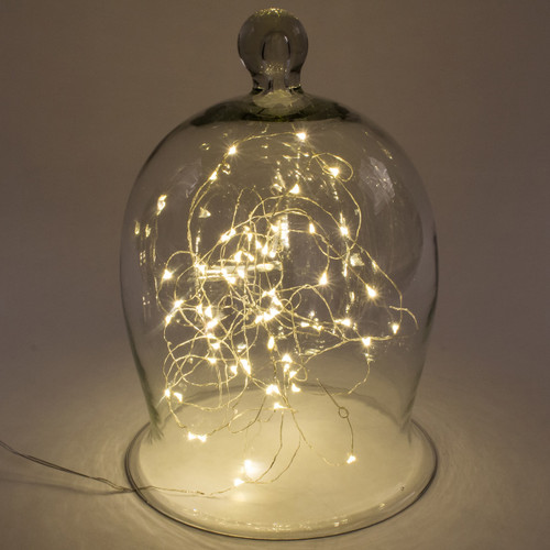 Soft White String Lights with Timer, 20 FT