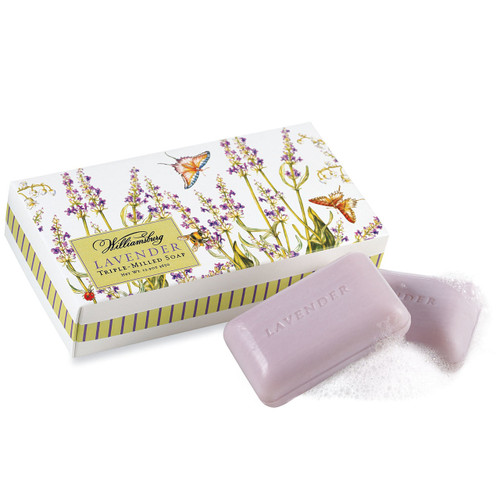 WILLIAMSBURG Lavender Soaps, Set/3