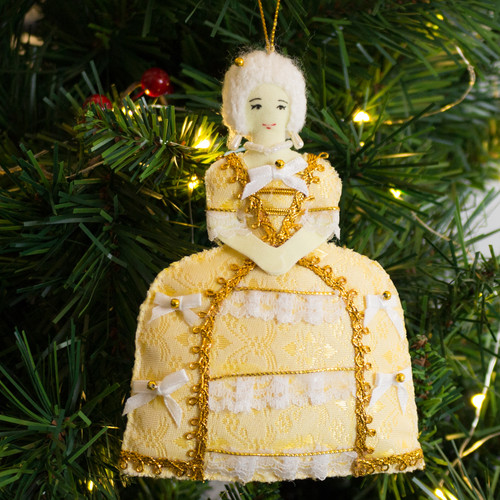 Lady Dunmore Fabric Ornament - Front