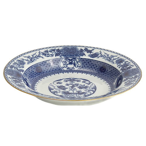 Imperial Blue Rimmed Soup Bowl