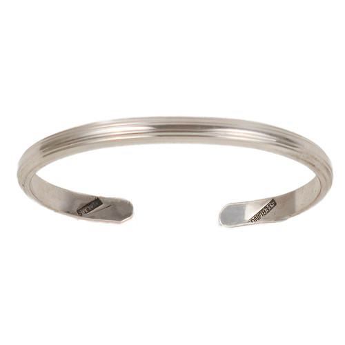 Light Edged Full Reeded C-Band Bracelet, SS