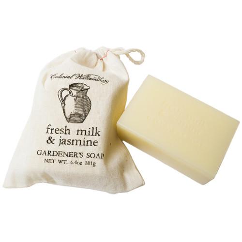 Fresh Milk and Jasmine Garden Sack Soap