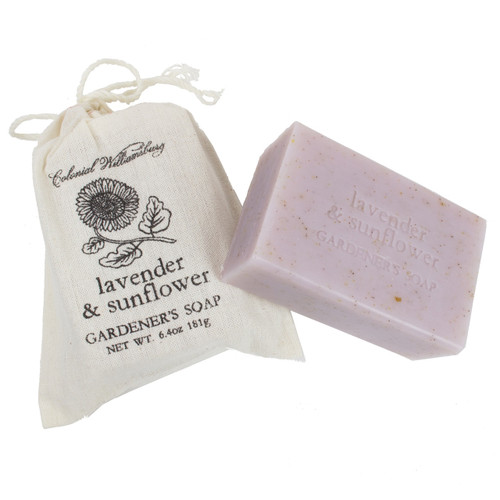 Lavender and Sunflower Garden Sack Soap