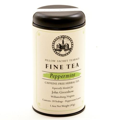Peppermint Fine Tea Sachet Canister